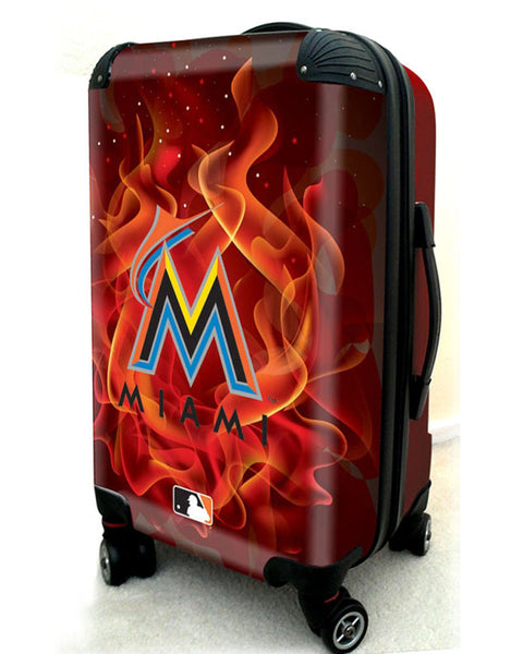 "Miami Marlins, 21"" Clear Poly Carry-On Luggage by Kaybull #MIA9 - OBM Distribution, Inc."
