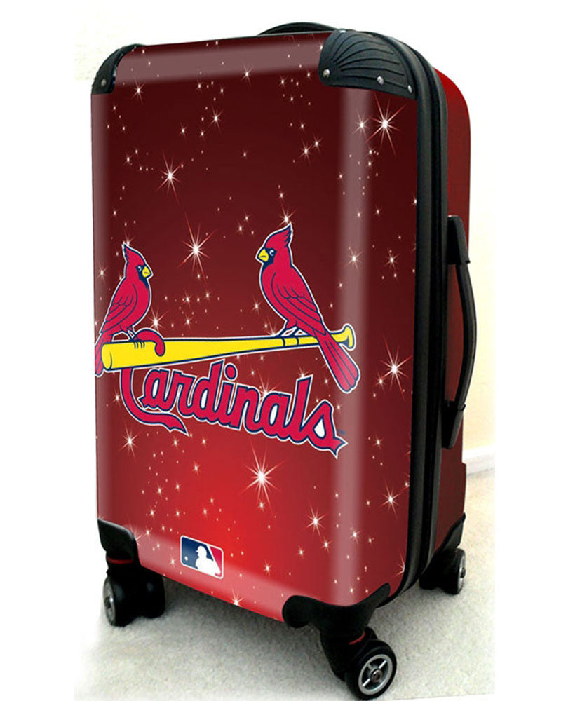 "St Louis Cardinals, 21"" Clear Poly Carry-On Luggage by Kaybull #STL11 - OBM Distribution, Inc."
