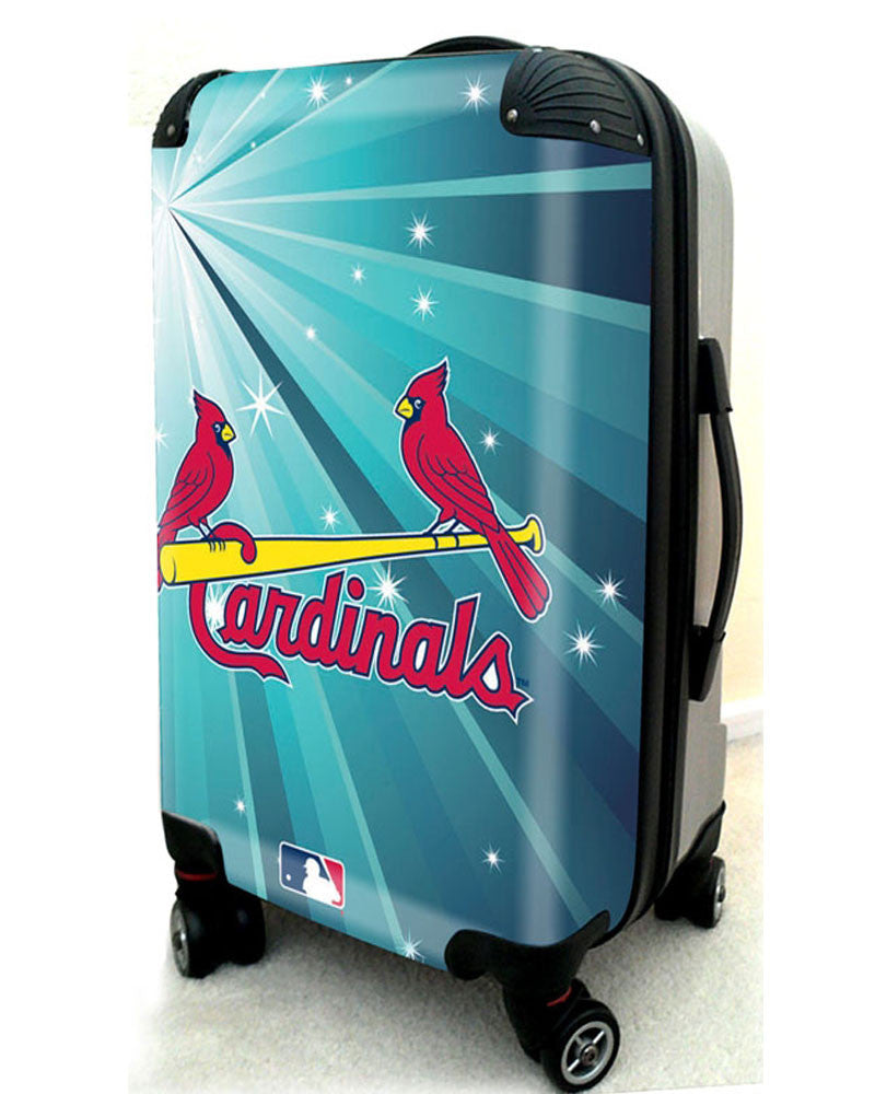 "St Louis Cardinals, 21"" Clear Poly Carry-On Luggage by Kaybull #STL9 - OBM Distribution, Inc."