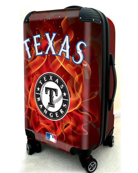 "Texas Rangers, 21"" Clear Poly Carry-On Luggage by Kaybull #TEX15 - OBM Distribution, Inc."