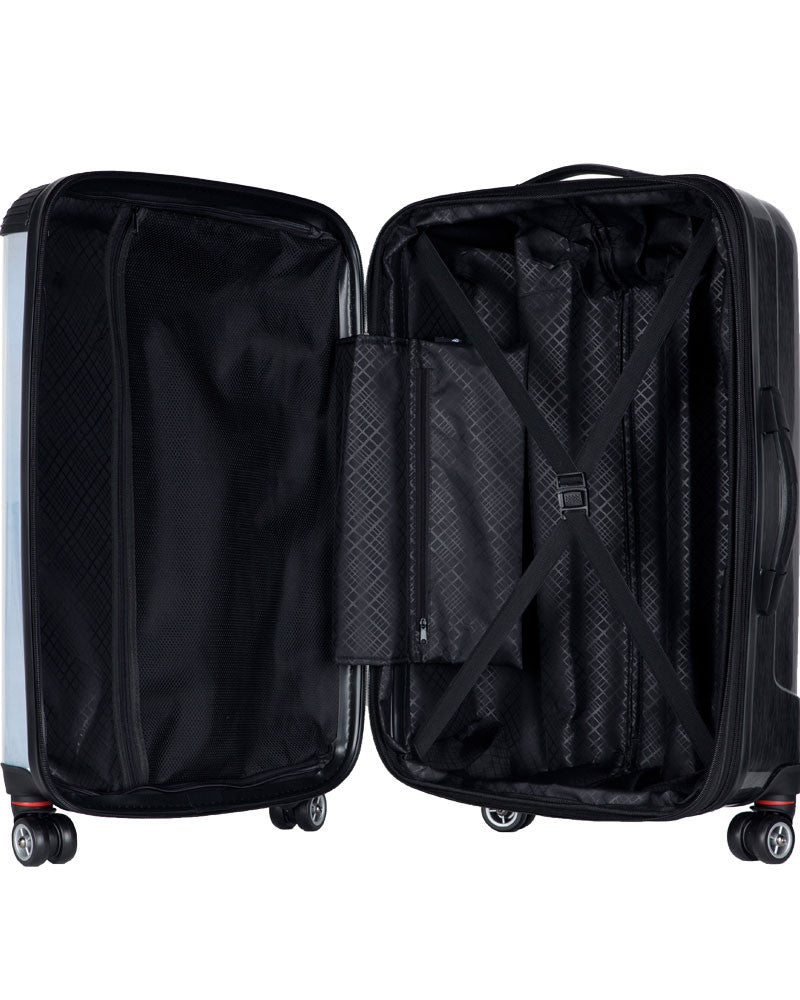 "New York Yankees, 21"" Clear Poly Carry-On Luggage by Kaybull #NYY16 - OBM Distribution, Inc."
