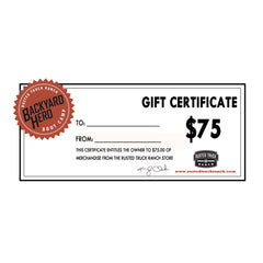 Rusted Truck Ranch Gift Certificate