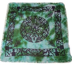 "Greenman Altar Cloth 18"" x 18"""
