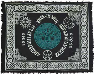 "Tree of Life Ouija Board Altar Cloth 24"" x 30"""