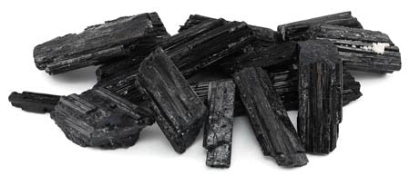 Black Tourmaline Untumbled Stones