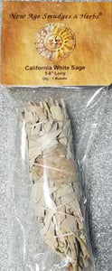 California White Sage Smudge Stick 5-6""