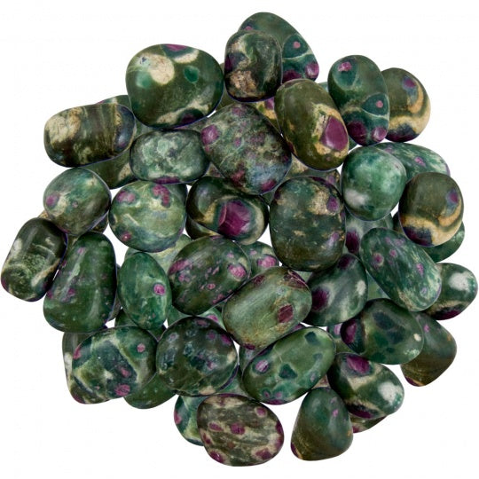Ruby Zoisite Tumbled Stones