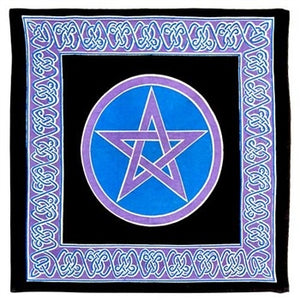 "Pentacle (Heavy Canvas) Altar Cloth 24"" x 24"""