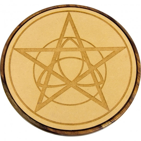 Celtic Pentacle Wood Crystal Grid