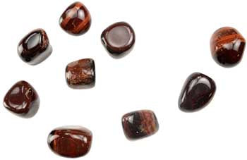 Tiger's Eye, Red Tumbled Stones
