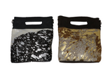 Leather & Cowhide Clutch/Crossbody