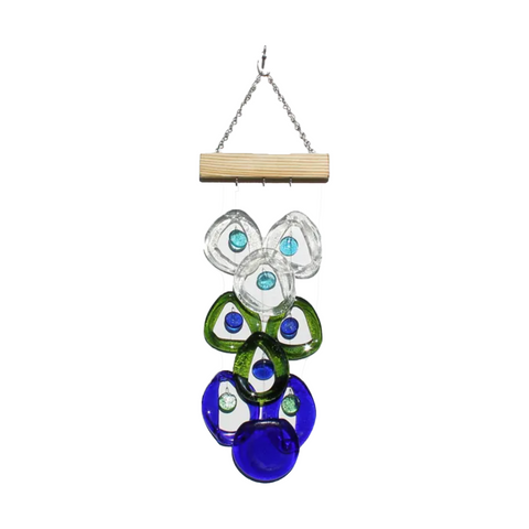 Bottle Benders Recycled Glass Chime - Coral Reef