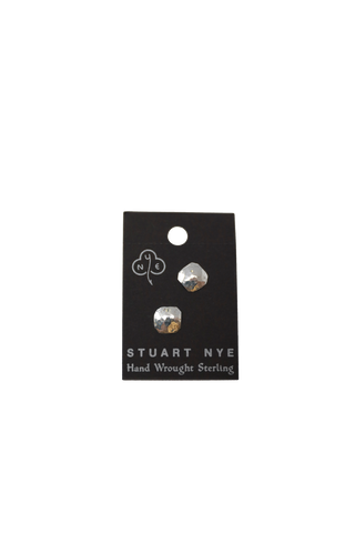 Stuart Nye Hammered Square Post Earrings