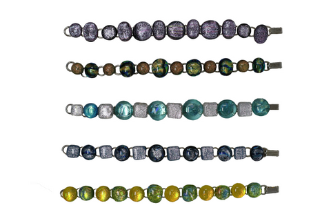 Kaki's Fused Dichroic Glass Bracelet