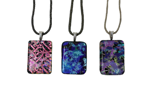 Kaki's Fused Dichroic Glass Necklace