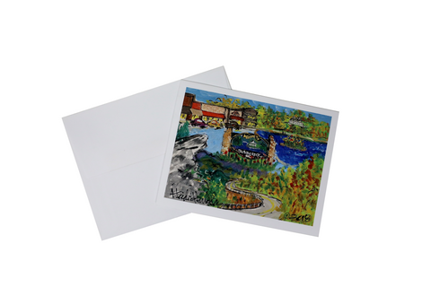 Heidi Hensley Blowing Rock Mural - Notecard Set of 10