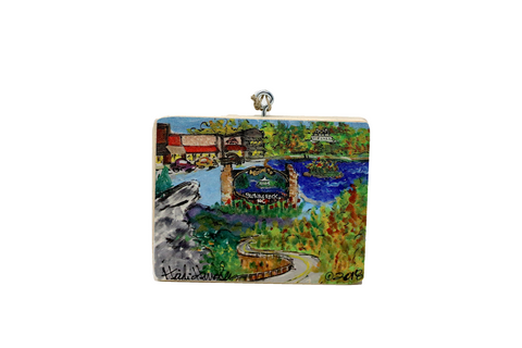 Heidi Hensley Blowing Rock Mural - Ornament