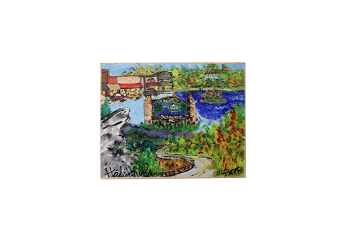 Heidi Hensley Blowing Rock Mural - Magnet