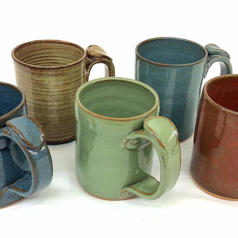 Rust Pottery Mugs