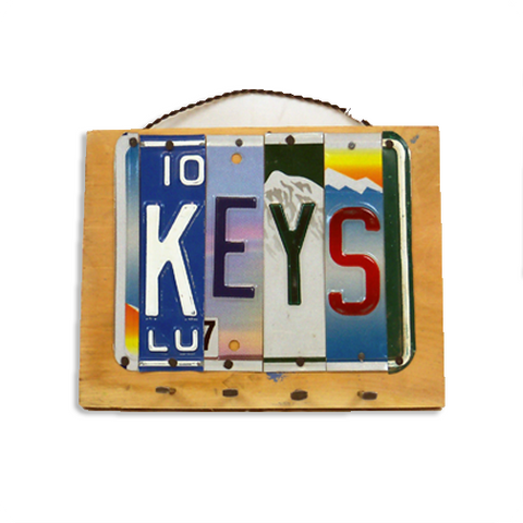 "License Plate ""Keys"" Rack"