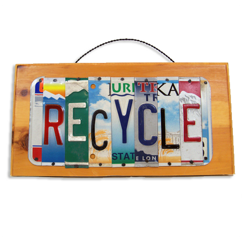 "License Plate ""Recycle"" Sign"
