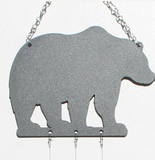 Bottle Benders Recycled Glass Chime - Metal Bear