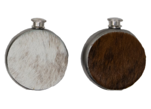 Handmade Cowhide Wrapped Flask