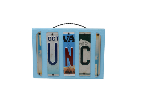 License Plate Sign - UNC