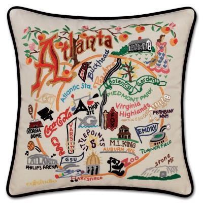 Atlanta Hand Embroidered CatStudio Pillow