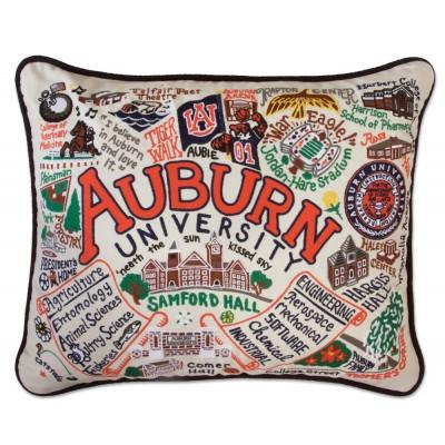 Auburn University Hand Embroidered CatStudio Pillow