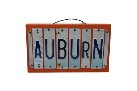 License Plate Sign - Auburn