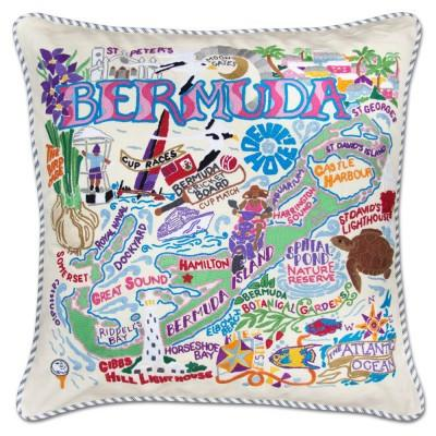 Bermuda Hand Embroidered CatStudio Pillow