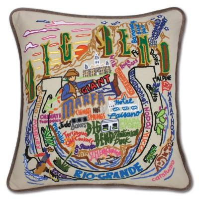 Big Bend Hand Embroidered CatStudio Pillow