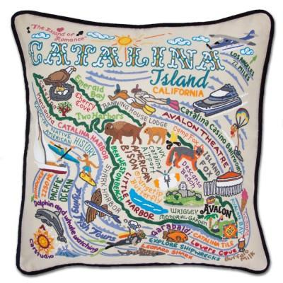 Catalina Embroidered CatStudio Pillow