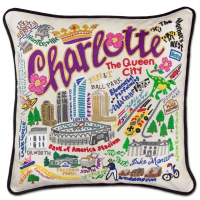 Charlotte Hand Embroidered CatStudio Pillow