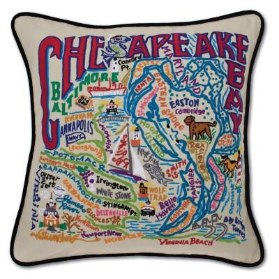 Chesapeake Embroidered CatStudio Pillow
