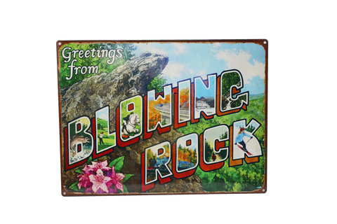 Blowing Rock Mural Metal Sign