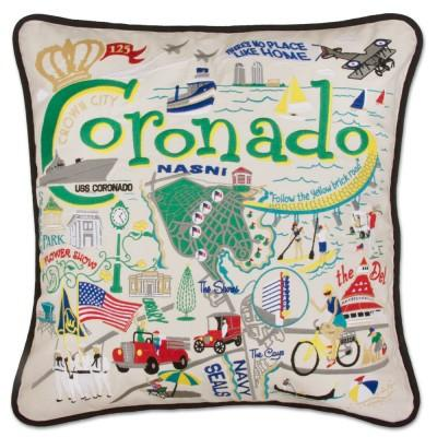 Coronado Hand Embroidered CatStudio Pillow