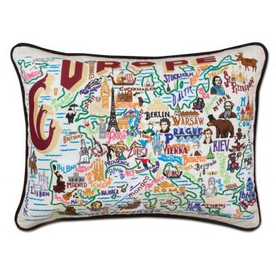 Europe Hand Embroidered CatStudio Pillow