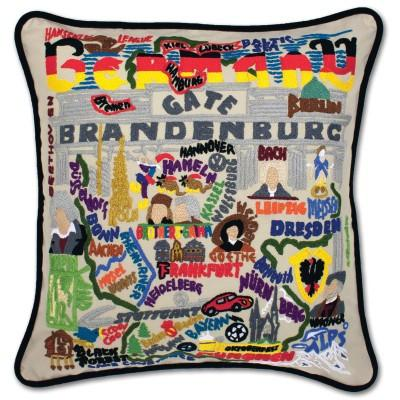 Germany Hand Embroidered CatStudio Pillow