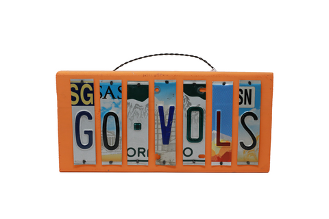 License Plate Sign - Go Vols