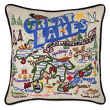 Hand Embroidered Catstudio Pillows (Region+Resorts)