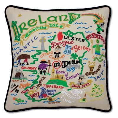 Ireland Hand Embroidered CatStudio Pillow
