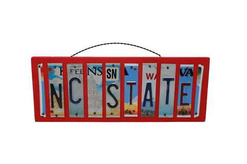 License Plate Sign - NC State