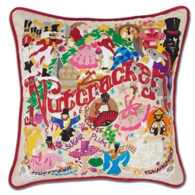 Nutcracker Hand Embroidered CatStudio Pillow