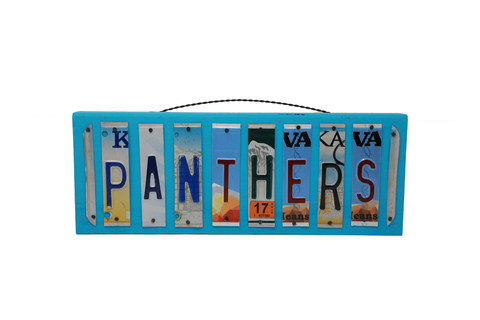 License Plate Sign - Panthers