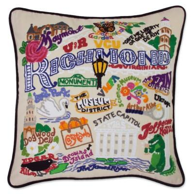 Richmond Hand Embroidered CatStudio Pillow
