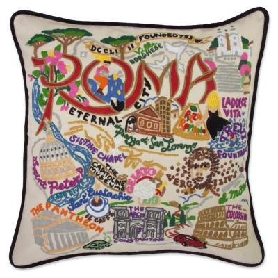 Roma Hand Embroidered CatStudio Pillow