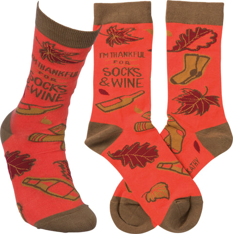Socks - Thankful for Socks and Wine