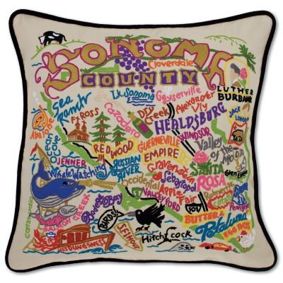 Sonoma Hand Embroidered CatStudio Pillow
